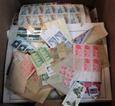 Banker Box Filled with Stuck Down, No Gum Postage OFFICE PICKUP ONLY!