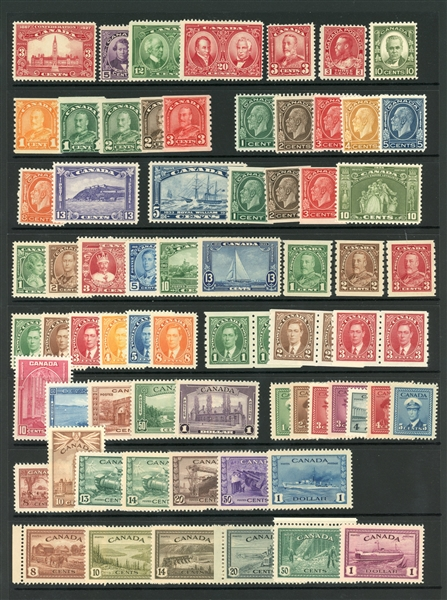 Canada - 1927-48 All Different MNH (SCV $1339)