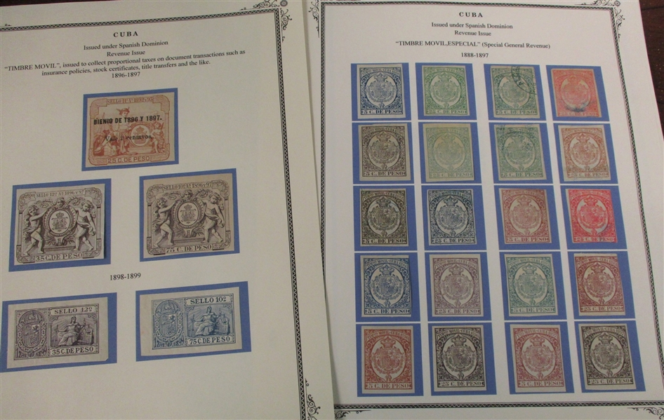 Cuba Spanish Administration Mounted Revenue Collection (Est $200-300)