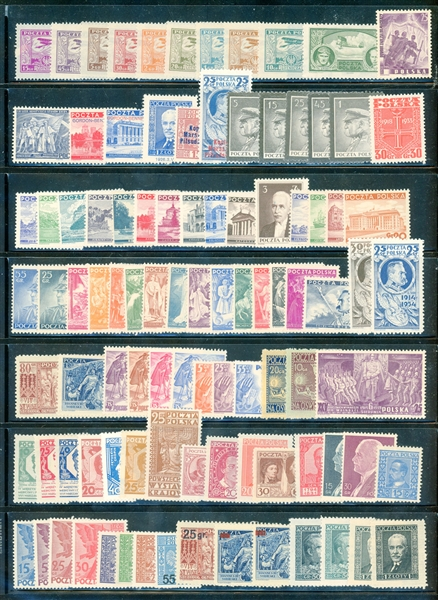 Poland Mint Accumulation of Stamps and Souvenir Sheets (SCV $784)