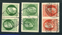 Bavaria 3 Different Used Tete-Beche Pairs (SCV $66.50)