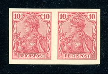Germany Scott 55a Unused Imperf Pair F-VF (SCV $120)