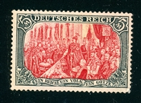 Germany Scott 78 MH F-VF, 1902 5M  Value (SCV $200)