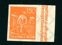 Germany Scott 175a MNH VF Imperf Margin Single (SCV $110)