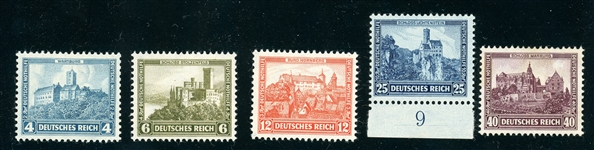 Germany Scott B44-B48 MNH Complete Set, F-VF (SCV $145)