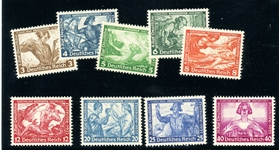 Germany Scott B49-B57 MLH Complete Set, F-VF (SCV $387.50)