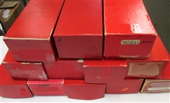 1000s of Stamps in 12 Dealer Red Boxes - OFFICE PICKUP ONLY!