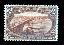 USA Scott 293 MH F-VF , $2 Trans-Miss with 2020 Crowe Certificate (SCV $1900)