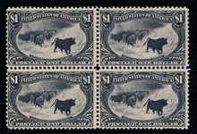 USA Scott 292 Unused, F-VF BLOCK OF 4 with 2020 Crowe Certificate (SCV $7000)