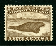 Newfoundland Scott 25 Used Fine, Brown Harp Seal (SCV $450)
