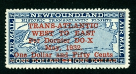 Newfoundland Scott C12 MNH VF, 1932 DO-X Airmail (SCV $400)