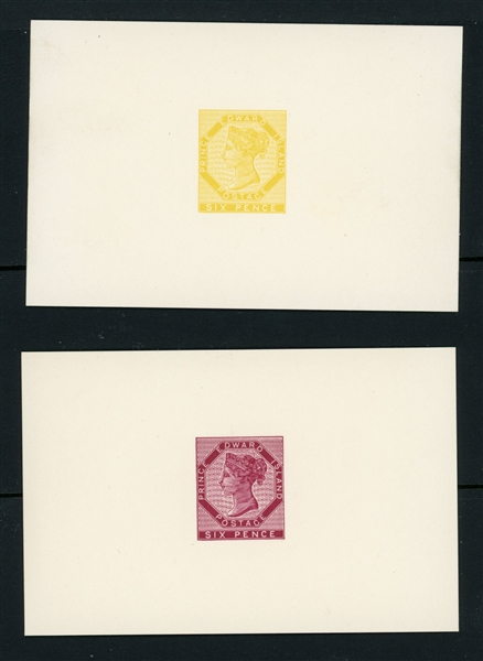 Prince Edward Island SG Type 3 Reprint Die Proofs, Qty 2 (Est $40-60)