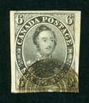 Canada Scott 5d Gray Violet Used, F-VF, 4 Margins, Tiny Thins (SCV $3000)