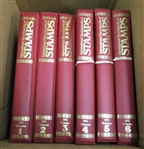 International Encyclopedia of Stamps - 6 Binders/84 Issues - OFFICE PICKUP ONLY!