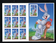 USA Scott 3138 Bugs Bunny Complete Pane with Die-Cut Missing (SCV $130)
