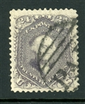 "USA Scott 70d Used, ""Paid"" Cancel with 1989 APS Certificate (SCV $3250)"