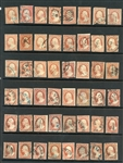 USA Scott Type A10 Imperfs and Perfs for Cancels (Est $750-1000)