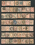 USA Scott Type A25 Design - Cancellation Accumulation (Est $750-1000
