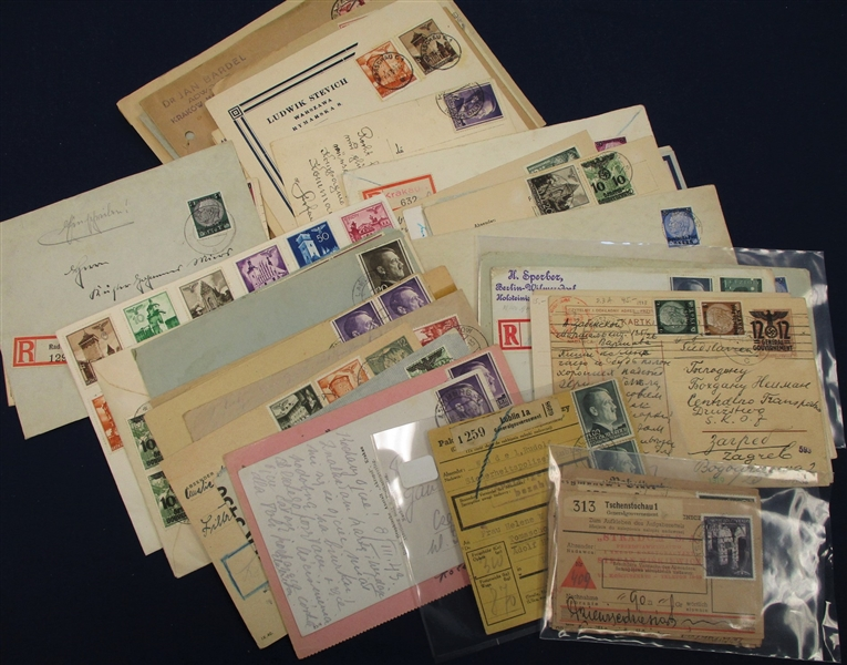 Poland WWII German Occupation Cover Lot (Est $200-250)