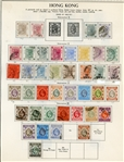 Hong Kong Mint/Used Collection on Album Pages, 1863-1962 (Est $100-150)
