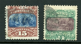 USA Scott 119-120 Used, Avg (SCV $790)