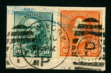 USA Scott 226, 229 on Piece, F-VF (SCV $140)