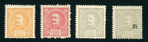 Portugal 1895 Issue King Carlos Issue - No Values or Shifted (Est $50-100)