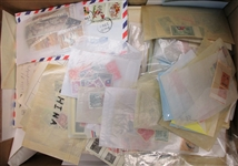 China Messy Boxlot With 100s of Stamps and More (Est $400-500)