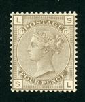 Great Britain Scott 84 MH F-VF, 4p Plate 17 Victoria (SCV $440)