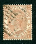 Great Britain Scott 56 Used Fine, 2sh Pale Brown Victoria (SCV $3750)